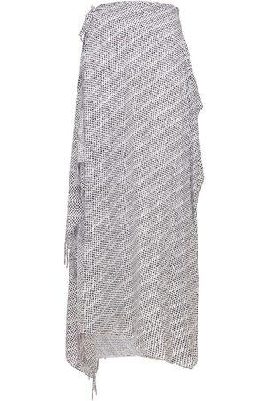 Balenciaga Archive Letters Viscose Wrap Skirt