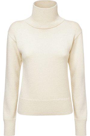 JIL SANDER Naiset Collegepaidat - Wool & Alpaca Knit Crewneck Sweater