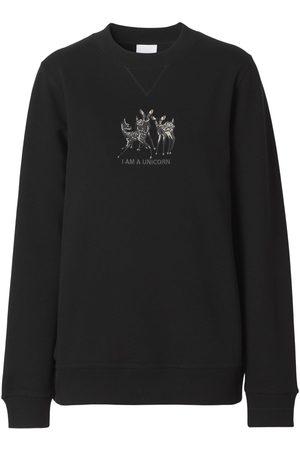 Burberry Naiset Collegepaidat - Berkley Jersey Embroidered Sweatshirt