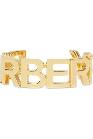 Burberry Logo-lettering cuff bracelet