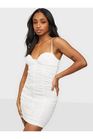 Love Triangle All Hooked Up Ruched Mini Dress