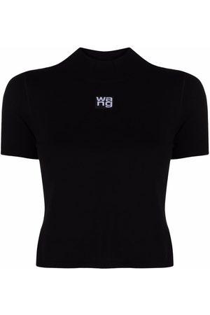 Alexander Wang Naiset T-paidat - Logo patch cropped T-shirt