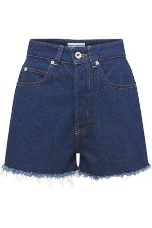 Paco rabanne Cotton Denim Mini Shorts