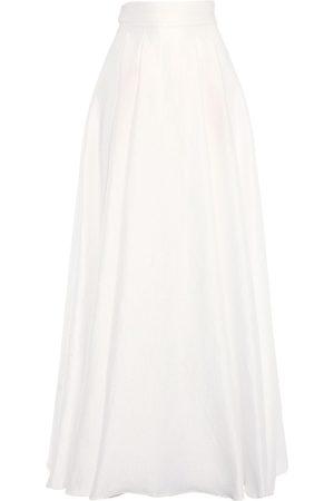 Max Mara Naiset Vekkihameet - Pleated Jacquard Long Skirt