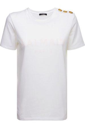 Balmain Logo Printed Organic Cotton T-shirt
