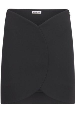 Balenciaga Circle Jersey Mini Skirt