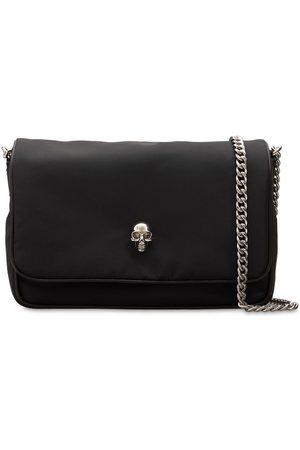 Alexander McQueen Polyfaille Small Skull Shoulder Bag