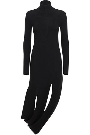 Bottega Veneta Naiset Neulemekot - Wool Blend Rib Knit Midi Dress