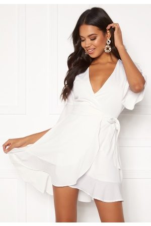 BUBBLEROOM Naiset Juhlamekot - Edie wrap dress White 36