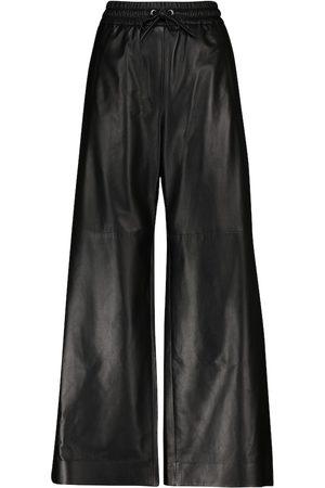 Brunello Cucinelli Leather wide-leg pants