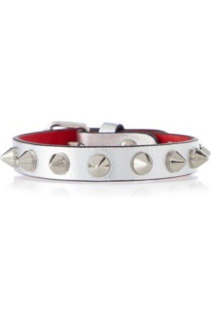 Christian Louboutin Naiset Rannekorut - Loubilink metallic leather bracelet