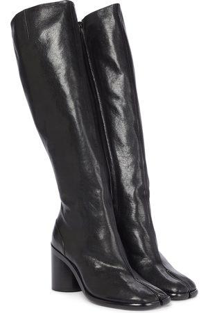 Maison Margiela Naiset Ylipolvensaappaat - Tabi leather knee-high leather boots