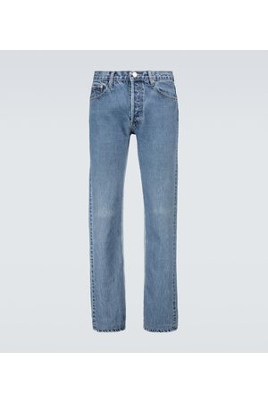 Balenciaga Miehet Suorat - Recycled slip patch jeans