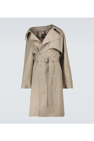 Balenciaga Miehet Trenssit - Asymmetric trench coat
