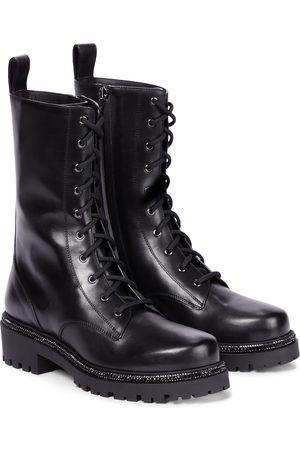 RENÉ CAOVILLA Naiset Cowboy - Bika embellished leather combat boots