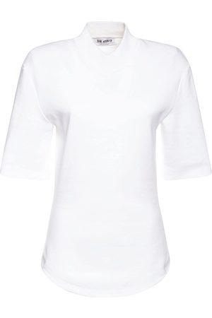 THE ATTICO Heavy Jersey V Neck T-shirt
