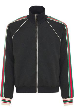 Gucci Gg Jersey Jacquard Zip Track Jacket