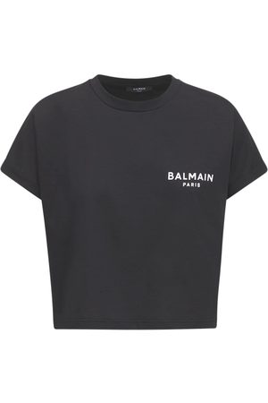 Balmain Naiset T-paidat - Logo Cotton Jersey T-shirt
