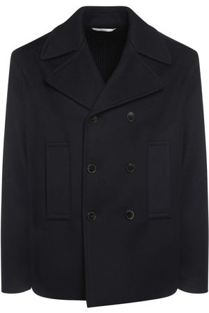 VALENTINO Wool & Cashmere Peacoat W/knit Back