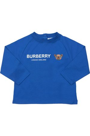 Burberry Pojat T-paidat - Logo Print L/s Cotton Jersey T-shirt