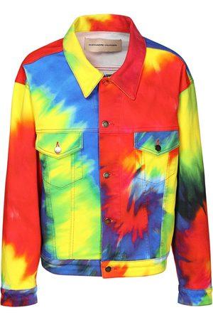 ALEXANDRE VAUTHIER Tie Dye Cotton Denim Jacket