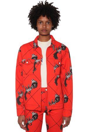 KIRIN Miehet Farkkutakit - Printed Cotton Denim Jacket