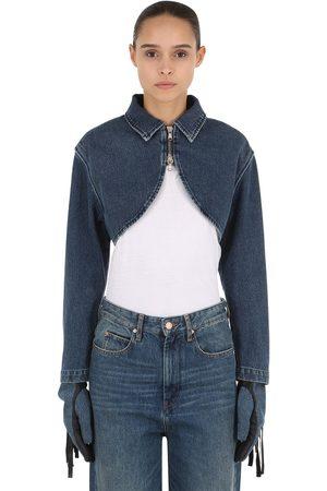 SHAYNE OLIVER X DIESEL Shayne Oliver Bolero Cotton Denim Jacket