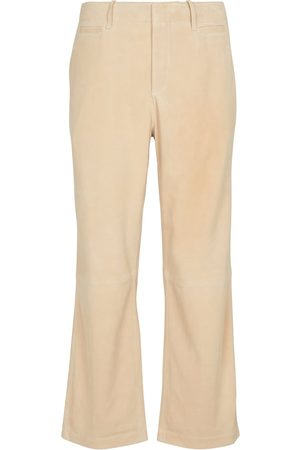 Frame Le Tomboy high-rise suede pants