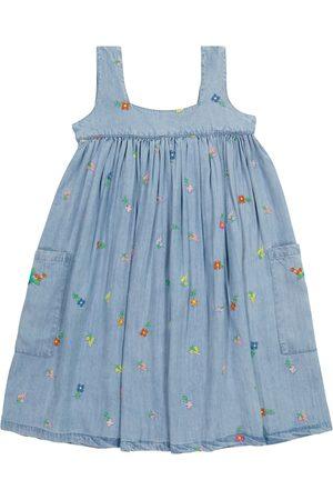 Stella McCartney Tytöt Printtimekot - Floral embroidered denim dress