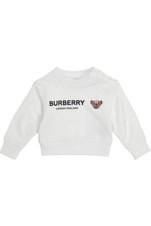 Burberry Baby logo cotton sweatshirt