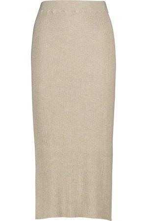 The Row Cannia silk and cotton midi skirt