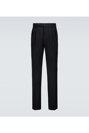 Brunello Cucinelli Miehet Suorat - Cropped wool and cotton pants