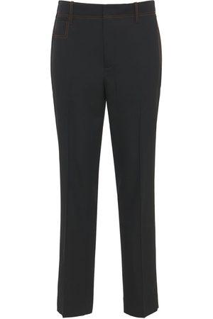 J.W.Anderson Miehet Kapeat - Slim Wool Gabardine Pants
