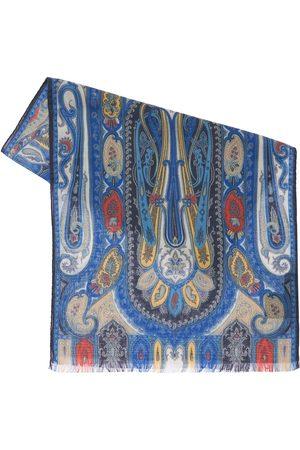 Etro Miehet Huivit - Calcutta Wool & Silk Scarf