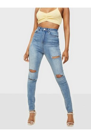 Missguided Naiset Skinny - Sinner Waisted Authentic Ripped Jeans