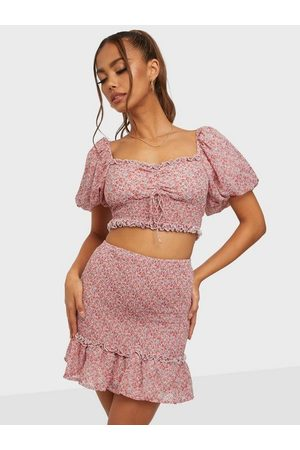 Love Triangle Truly Shirred Mini Skirt