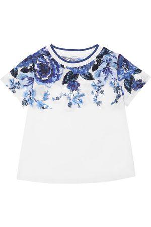 ZIMMERMANN Tytöt T-paidat - Flower Print Cotton Jersey T-shirt