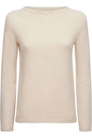 Max Mara Naiset Collegepaidat - Cashmere Knit Crewneck Sweater