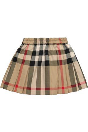 Burberry Vauvat Hameet - Baby Vintage Check stretch-cotton skirt