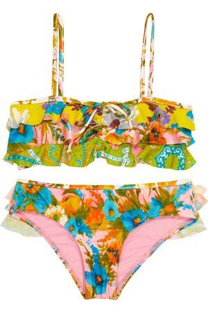 ZIMMERMANN Estelle floral frill-trimmed bikini
