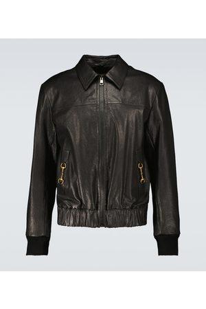 Gucci Leather blouson jacket