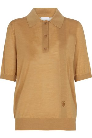 Burberry Wool, silk and cashmere polo top