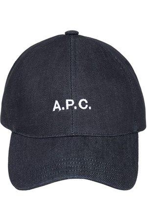 A.P.C. Naiset Hatut - Embroidered Logo Cotton Denim Cap