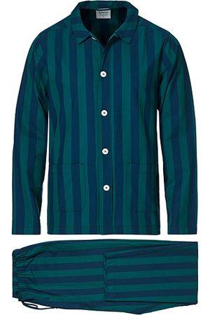 Nufferton Miehet Pyjamat - Uno Striped Pyjama Set Blue/Green
