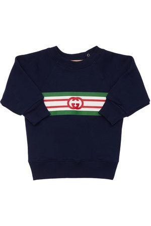 Gucci Tytöt Collegepaidat - Logo Cotton Sweatshirt