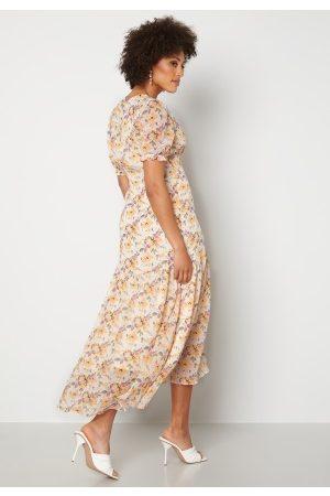 Y.A.S Naiset Printtimekot - Nilima 2/4 Wrap Ankle Dress Eggnog Floral AOP L