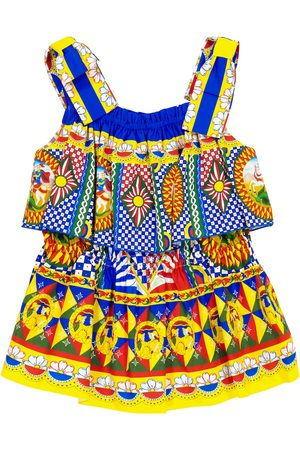 Dolce & Gabbana Printed cotton poplin dress