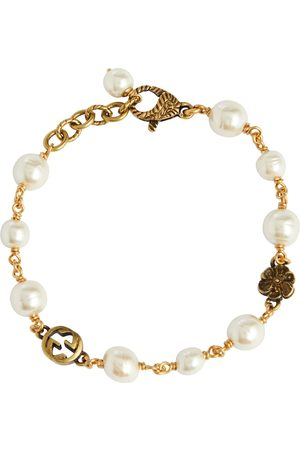 Gucci GG bracelet with faux pearls