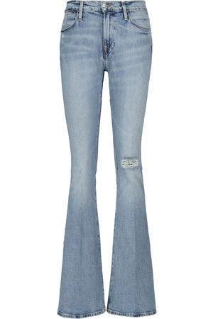 Frame Le High Flare distressed jeans
