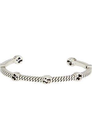 Gucci GG sterling silver cuff bracelet
